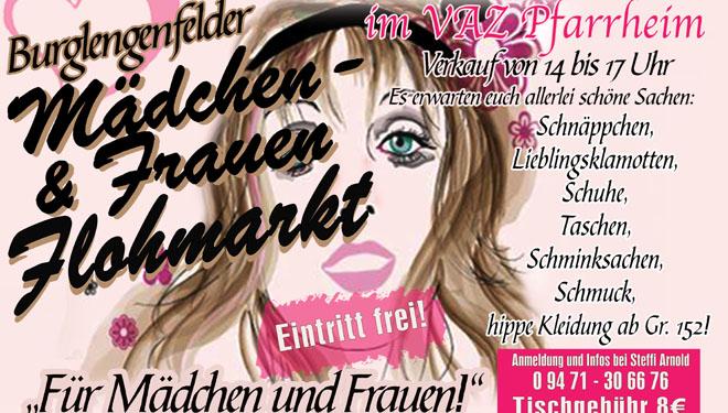 Großer Mädchen- u. Frauenflohmarkt im VAZ Burglengenfeld