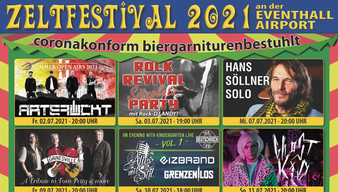 Zeltfestival 2021 am Airport Obertraubling